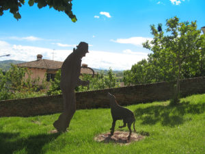 Monument to the truffle hunter and his dog